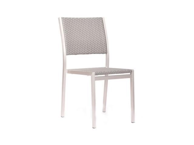 Zuo Modern Patio Furniture.Zuo Modern 701866 Modern Patio Furniture Metropolitan Collection Dining Chair In Brushed Aluminum Set Of 2 Newegg Com