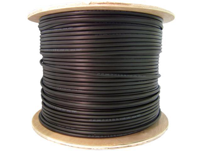 Direct Burial / Outdoor rated Cat 6 Black Ethernet Cable, Solid ...