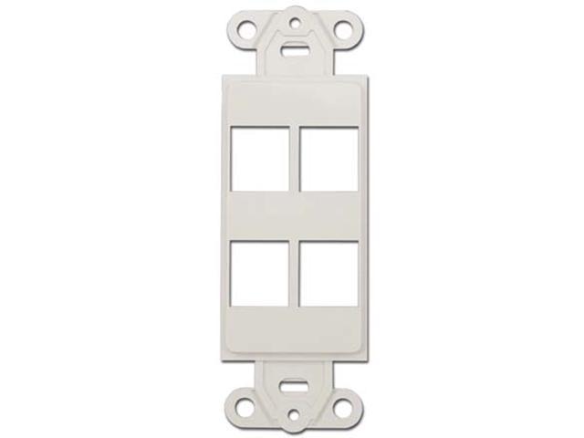 3x 6 Port Hole 1-Gang Keystone Jack Insert Decora Style Wall Plate Modular White