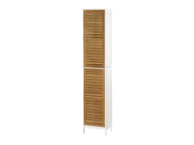 Koehler Home Decor Indoor Accent Kyoto Double Linen Wooden Storage Cabinet  - Newegg com