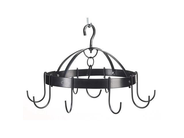 Koehler Home Kitchen Decor Mini Round Metal Pot Pan Holder Hanger Organizer  - Newegg com
