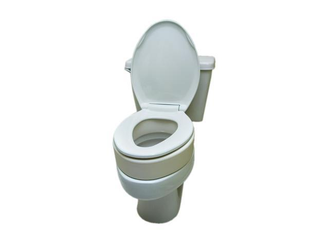 Elongated Toilet Seat Riser.Essential Medical Supply Home Care Bathroom Patient Safety Toilet Seat Riser Elongated