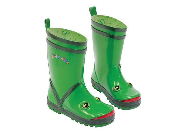 536e4f9b3d9 Kidorable Kids Children Indoor Outdoor Play Rubber Green Frog Rain Boots  Size 7 - Newegg.ca