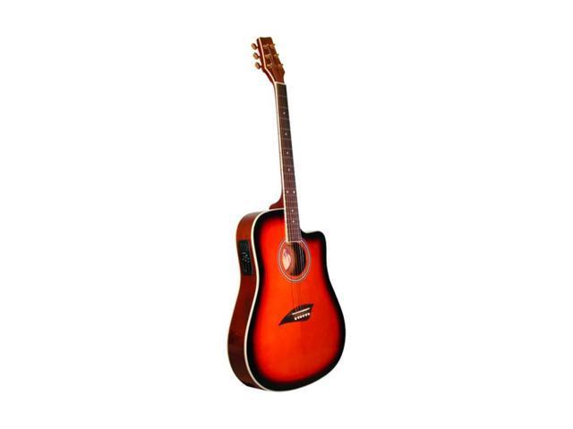 kona k2 series thin body acoustic electric guitar sunburst. Black Bedroom Furniture Sets. Home Design Ideas
