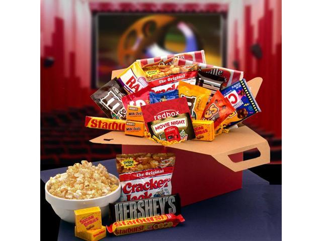 Gift Basket Drop Shipping Blockbuster Night Care Package With 10 00 Redbox Card