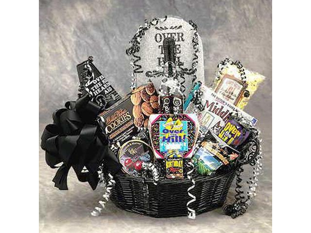 Gift Basket Drop Shipping Over The Hill Birthday Gift Basket Medium