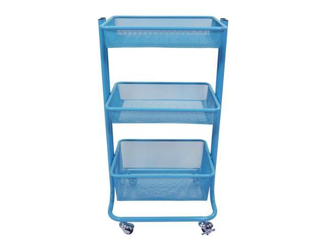 Luxor Multipurpose Home Storage Kitchen Utility Rolling Cart - Blue -  Newegg.com