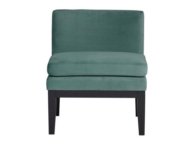 Studio Designs Home Living Room Cornice Contemporary Slipper Chair - Green  Teal
