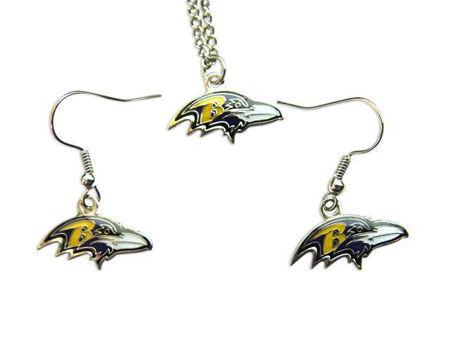 b95afa77 Baltimore Ravens NFL Necklace and Dangle Earring Charm Set - Newegg.com