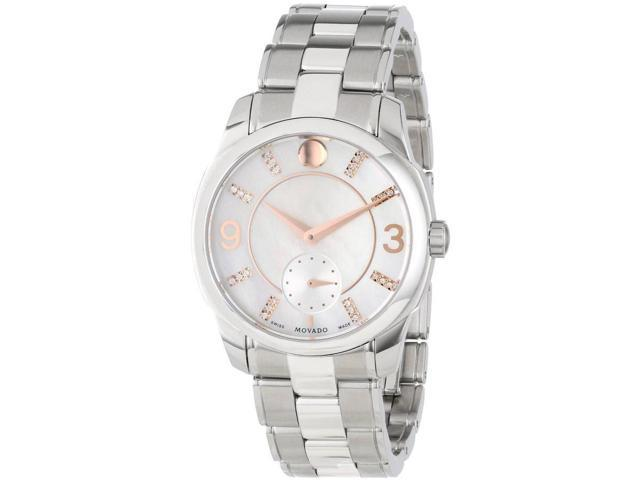 3a2d770d314 Movado LX Mother of Pearl Dial Stainless Steel Ladies Watch 0606619