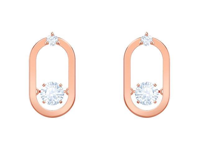 04b960c68 Swarovski North Pierced Earrings - White - Rose Gold Plating ...