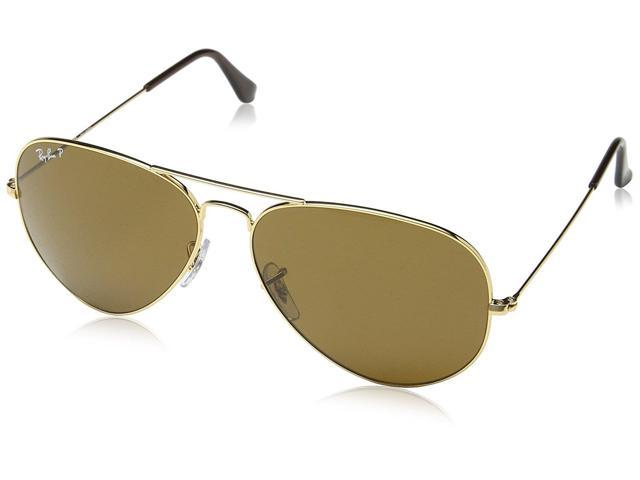 ray ban aviator polarized gold brown