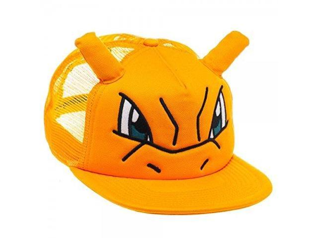 Pokemon Charizard Big Face Snapback Trucker Hat Baseball Cap ... 3ed7b60f6ffe