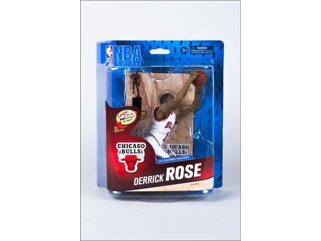 on sale a0590 fee63 Chicago Bulls NBA S24 Figure: Derrick Rose (White Jersey MVP Trophy  Variant) - Newegg.com