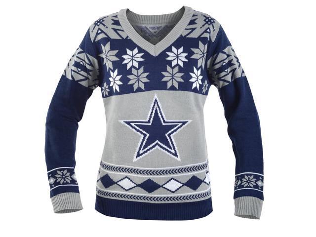 online retailer bfbab 2029a Dallas Cowboys NFL Women's Big Logo V-Neck Ugly Christmas Sweater Small -  Newegg.com