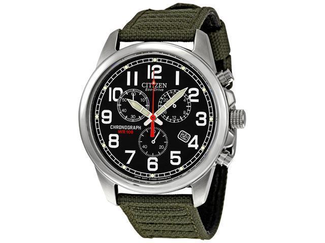 Citizen Eco-Drive Chronograph Mens Strap Watch AT0200-05E
