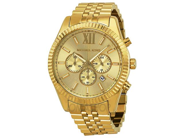 052a6b5bdbac Michael Kors MK8281 Lexington Chronograph Champagne Dial Men s Watch