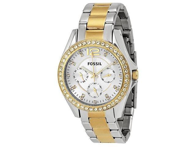 fd23b2fbe579 Fossil ES3204 Riley Multi-Function Two-Tone Stainless Steel Ladies Watch