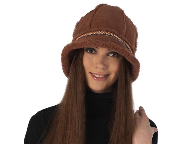 Luxury Lane Women s Genuine Shearling Bucket Hat - Tobacco - Newegg.com 80be2b6e290b