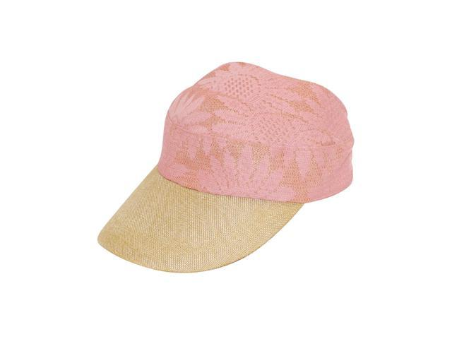 Fancy Lace Covered Visor Cap with Ribbon Tie - Pink - Newegg.com e41251f68e7