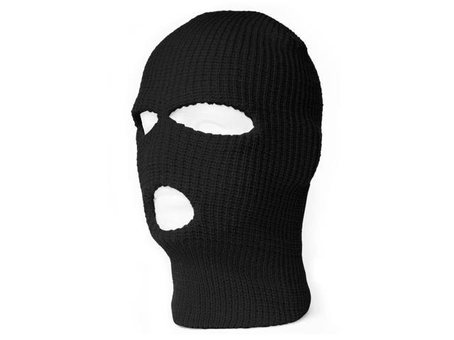 3 Hole Winter Ski Mask Balaclava - Black - Newegg.com a7ad3fb44