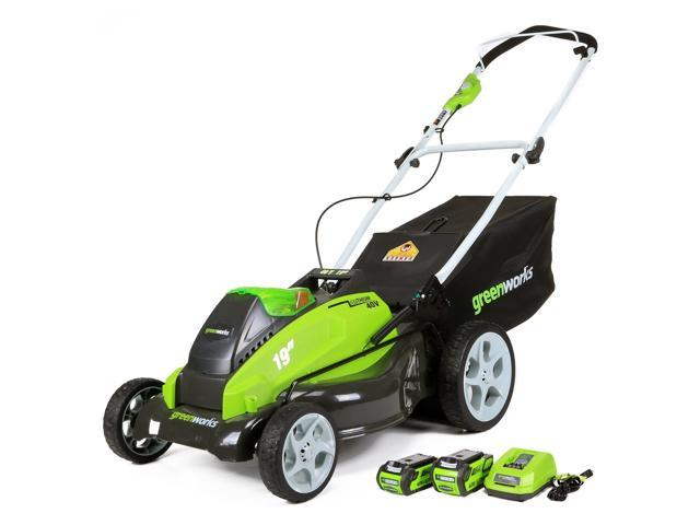 Greenworks 40v Lawn Mower With Batteries