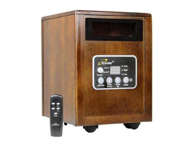 ILiving 1500 Watt Wood Cabinet Infrared Portable Space Heater
