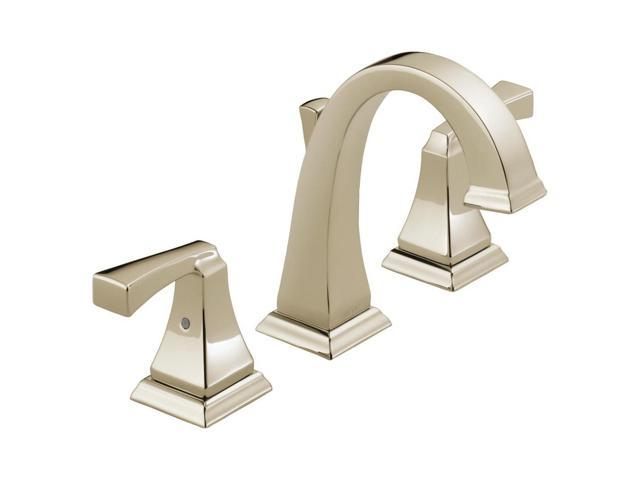 7 Faucet Finishes For Fabulous Bathrooms: Delta Dryden 2 Handle Widespread Bathroom Faucet, Polished