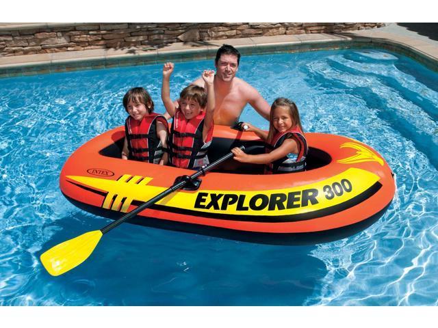 Intex Explorer 300 Compact Inflatable Three Person Raft Boat | 58332EP -  Newegg com