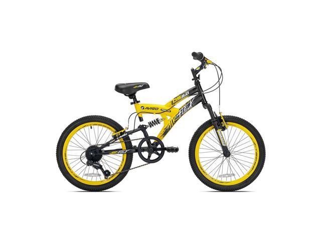 Boys 20 Inch Bike >> Kent Bikes Avigo Air Flex Dual Suspension Steel 20 Inch Boys Bmx