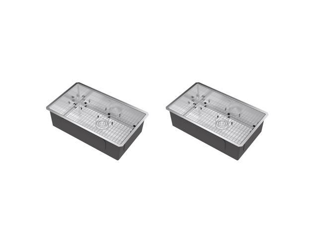 20 g Kindred FSB1722BX 8 Deep Stainless Steel Single Bowl Top-mount Bar Sink