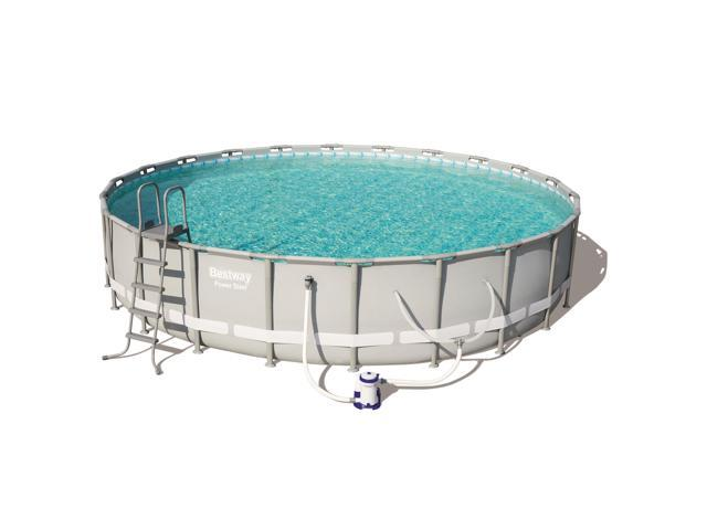 Bestway Power Steel 22in x 4.3ft Above Ground Swimming Pool w/ Pump &  Filter - Newegg.com