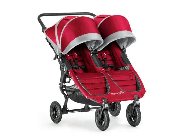 Baby Jogger City Mini Gt Double Stroller With All Terrain Wheels Crimson Gray Newegg Com