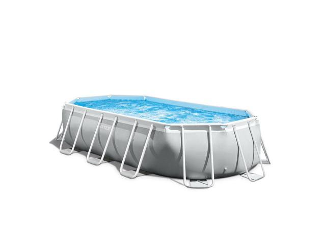 Intex 16.5ft x 9ft 48in Prism Frame Oval Above Ground Swimming Pool Pump  Set - Newegg.com
