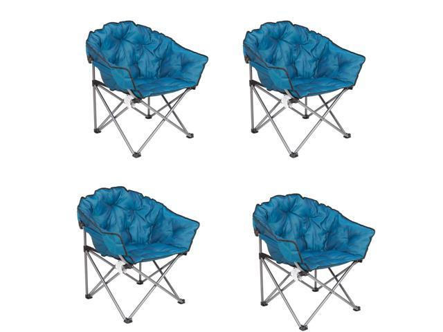 Remarkable Mac Sports Folding Padded Outdoor Club Chair With Carry Bag Blue Black 4 Pack Newegg Com Uwap Interior Chair Design Uwaporg