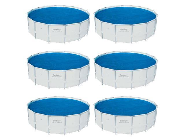 Bestway 15 Foot Round Above Ground Swimming Pool Solar Heat Cover (6 Pack)  - Newegg.com