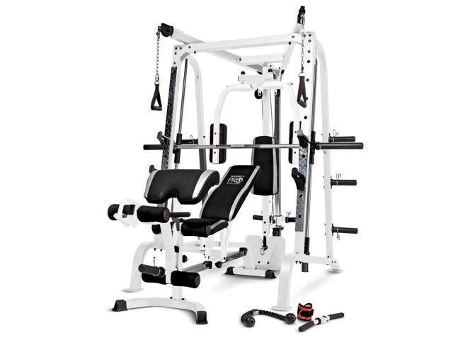 Marcy Pro Smith Cage Workout Machine Total Body Training Home Gym System -  Newegg com