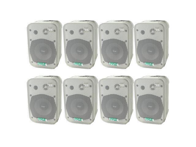 "2 PYLE PDWR40W 5.25/"" 2-Way White Indoor Outdoor Waterproof Home Theater Speakers"