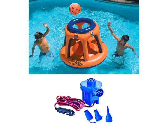Swimline 90285 Basketball Hoop Shootball Inflatable Pool Toy + Electric Air  Pump - Newegg.com