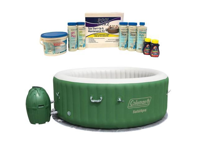 Kit Jacuzzi.Coleman Saluspa 6 Person Inflatable Jacuzzi 6 Month Chemical Kit