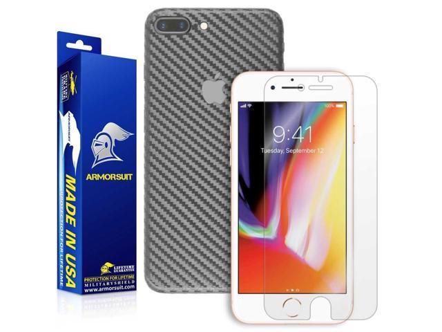 buy online b159a 9f5cd ArmorSuit Apple iPhone 8 Plus Screen Protector MilitaryShield + Black  Carbon Fiber Skin Wrap Film Back Film Protector for iPhone 8 Plus -  Newegg.com