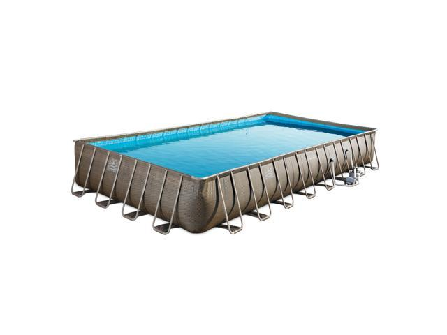 Summer Waves 32ft x 16ft x 5i2in Swimming Pool with 2 Frosted Donut Pool  Floats - Newegg.com