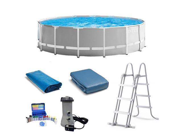 Intex 15ft x 48in Prism Frame Round Pool & Taylor Chlorine pH Alkaline Test  Kit - Newegg com