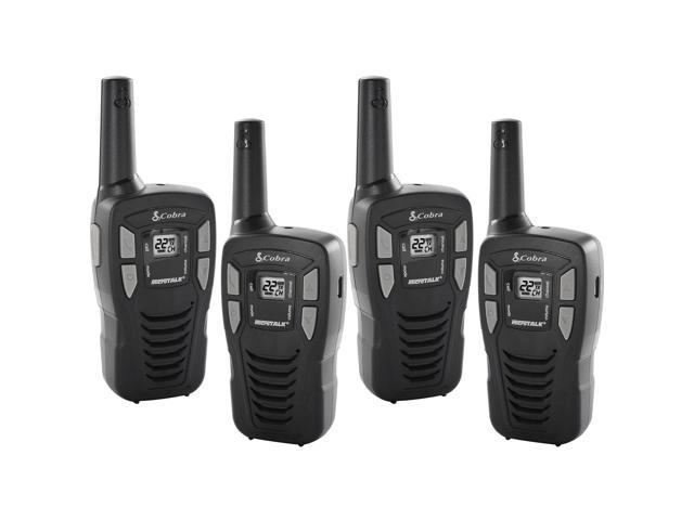 NEW! (4) Cobra CX112 16 Mile 22 Channel FRS/GMRS Walkie Talkie Two-Way  Radios - Newegg com