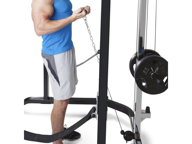 Marcy Pro Full Cage and Weight Bench Personal Home Gym Total Body Workout  System - Newegg com