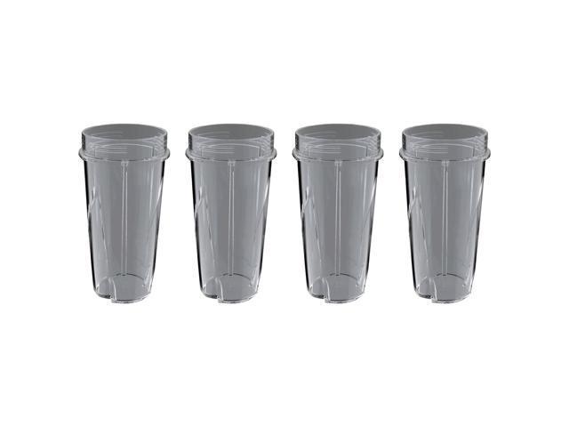 Ninja 16 Ounce Nutri Ninja Kitchen Pulse Blender Replacement Cup 4 Pack Newegg Com