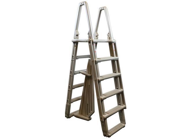 Confer 7100B Evolution A-Frame 48 to 54 Inch Above Ground Swimming Pool  Ladder - Newegg.com
