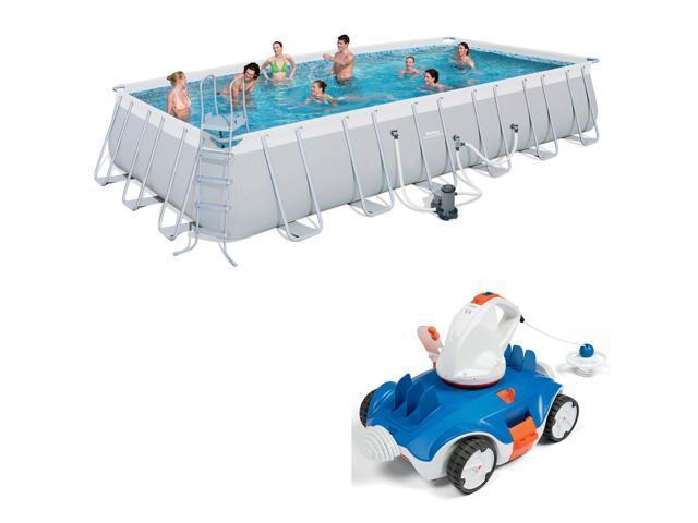 Bestway 24 x 12-Foot Pool Set + Aquatronix Autonomous Pool Cleaning Vacuum  Robot - Newegg com