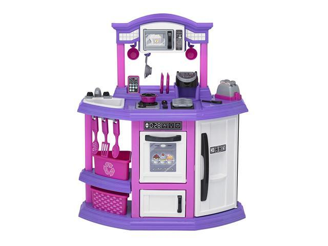 American Plastic Toys Kids First Bakers Kitchen Playset with 22 Accessories