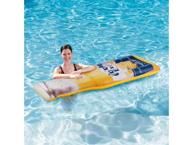 Summer Waves Corona Inflatable Beer Bottle Inflatable Pool Float Mat 3 Pack
